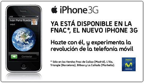 El iPhone 3G en FNAC