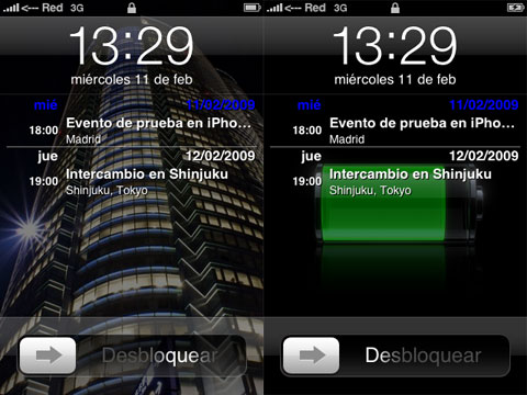 Lock Calendar en el iPhone