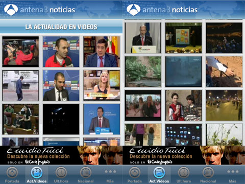 Antena 3 TV en el iPhone
