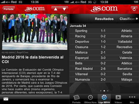 Noticias de As en el iPhone