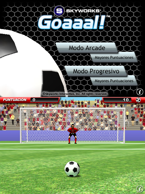 Goaaal! en el iPhone