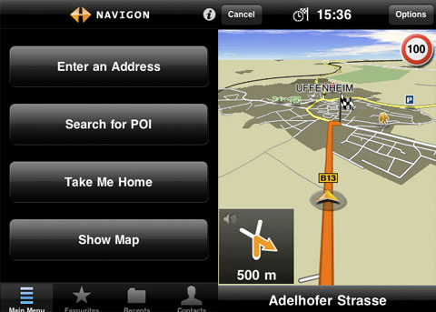 Navigon MobileNavigator GPS iPhone
