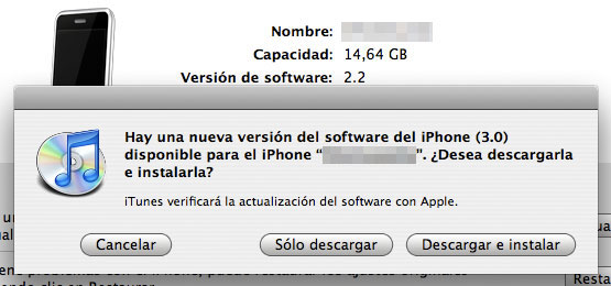 Por Fin disponible el iPhone OS 3.0