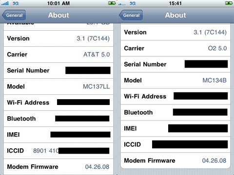 iPhone 3GS 3.1 con Jailbreak