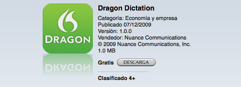 Dragon Dictation en la App Store