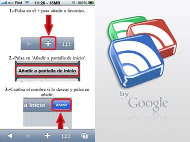 Google Reader sin interfaz de Mobile Safari