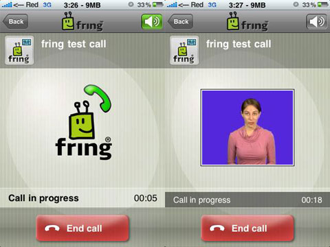 Fring en el iPhone