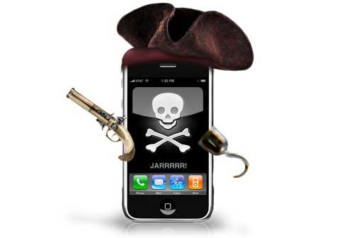 iPhone piratón