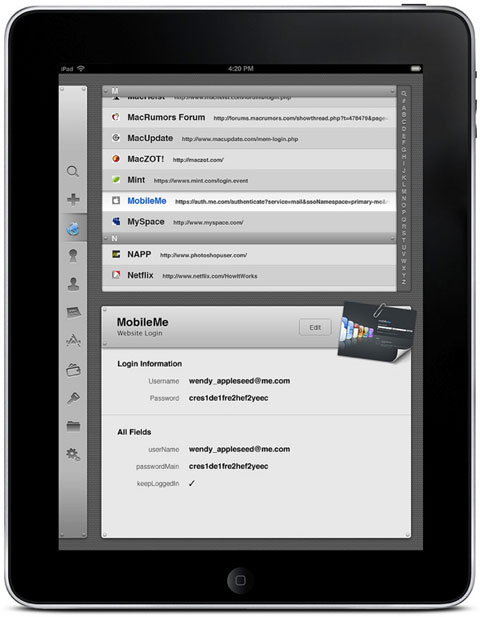 1Password en el iPad