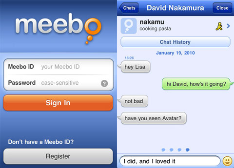 meebo en el iPhone