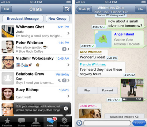 Whatsapp para iPhone 5