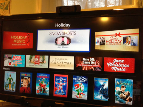 Apps de Invierno en el Apple TV