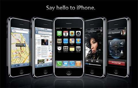 Portada de Apple.com con el lanzamiento del iPhone