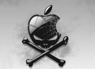 Logo de Apple y huesos