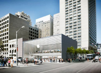 Futura Apple Store en Union Square