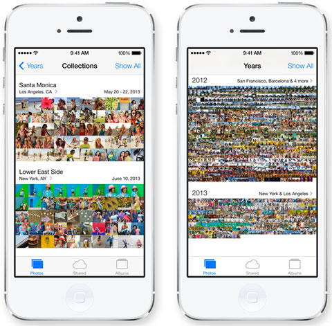 App de Fotos de iOS 8