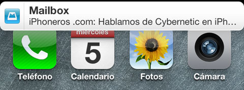 Notificación de iPhoneros.com