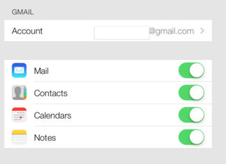Sincronizar contactos de Gmail con iOS 7
