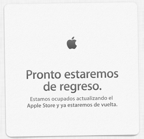 Apple Store Volveremos Pronto