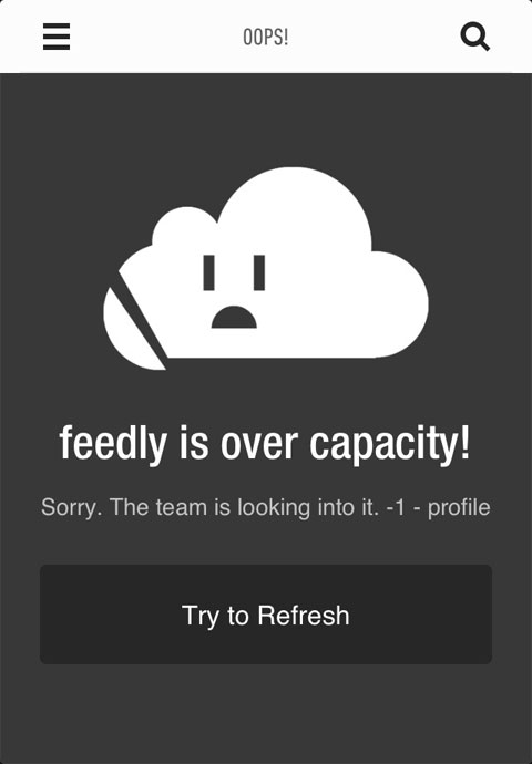 Feedly sobrecargado