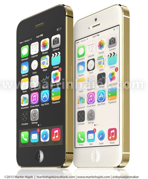 iPhone 5S en dorado, blanco y negro