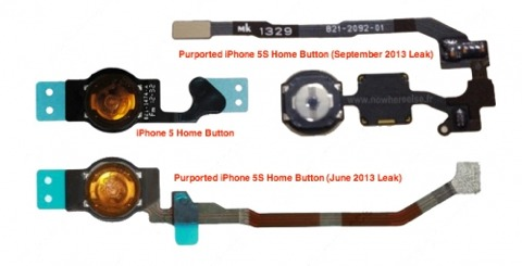 Posible botón Home del iPhone 5S