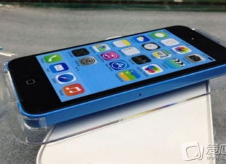 Supuesto iPhone 5C en color azul