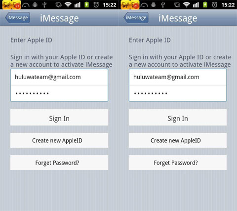 iMessage para Android