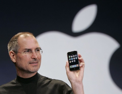 Steve Jobs introducing the iPhone