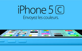 iPhone 5C azul en Francia