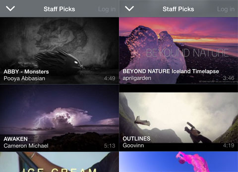 Staff Picks de Vimeo