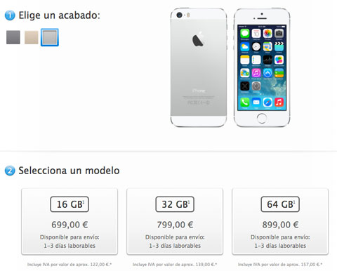 Disponibilidad del iPhone 5S
