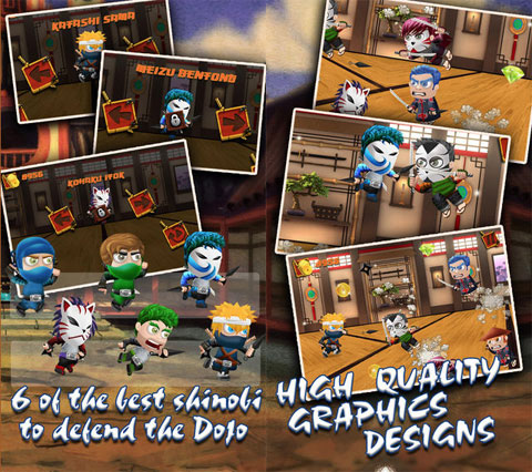 Ninja Dojo : Clash of the Ninja and Samurai Warrior Clan
