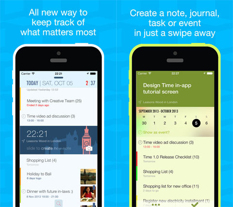 TIME - Notes, Tasks & Events