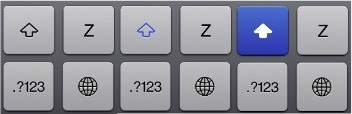 Teclado virtual de iOS 6