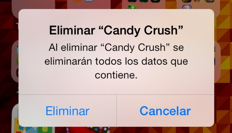 Borrar Candy Crush