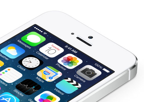 iOS 7 en el iPhone 5S
