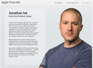 Jonathan Ive en la web de Apple