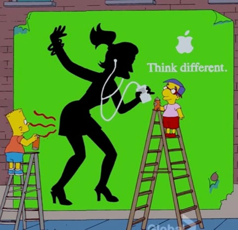 Los Simpsons parodiando a Apple
