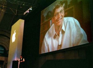 Bill Gates en la MacWorld de 1997