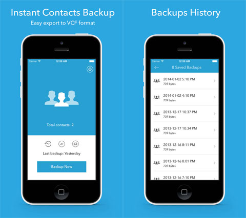Contacts Backup Pro 7