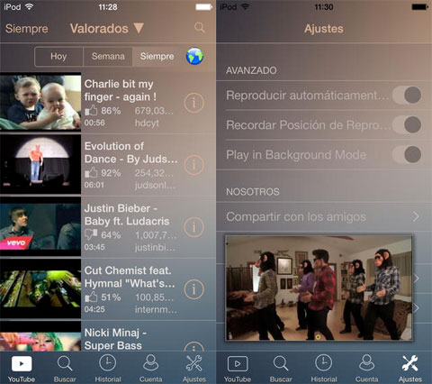 Insta Tube Player HD - Vídeos y música gratis de YouTube