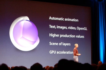 Core Animation en la Keynote de presentación del iPhone