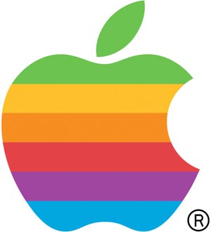 Logo arcoíris de Apple