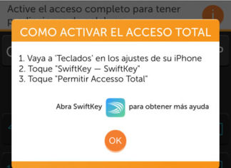 Acceso total de SwiftKey