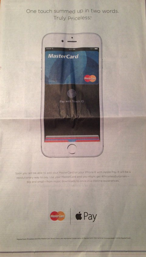 Anuncio de Master Card y Apple Pay