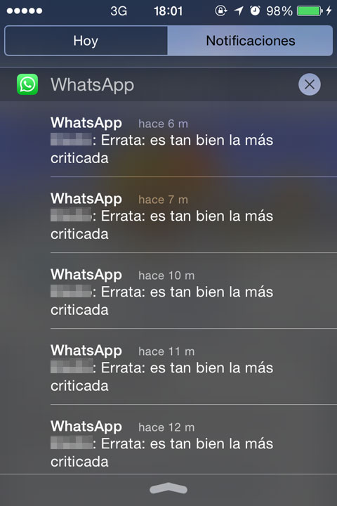 Notificaciones repetidas