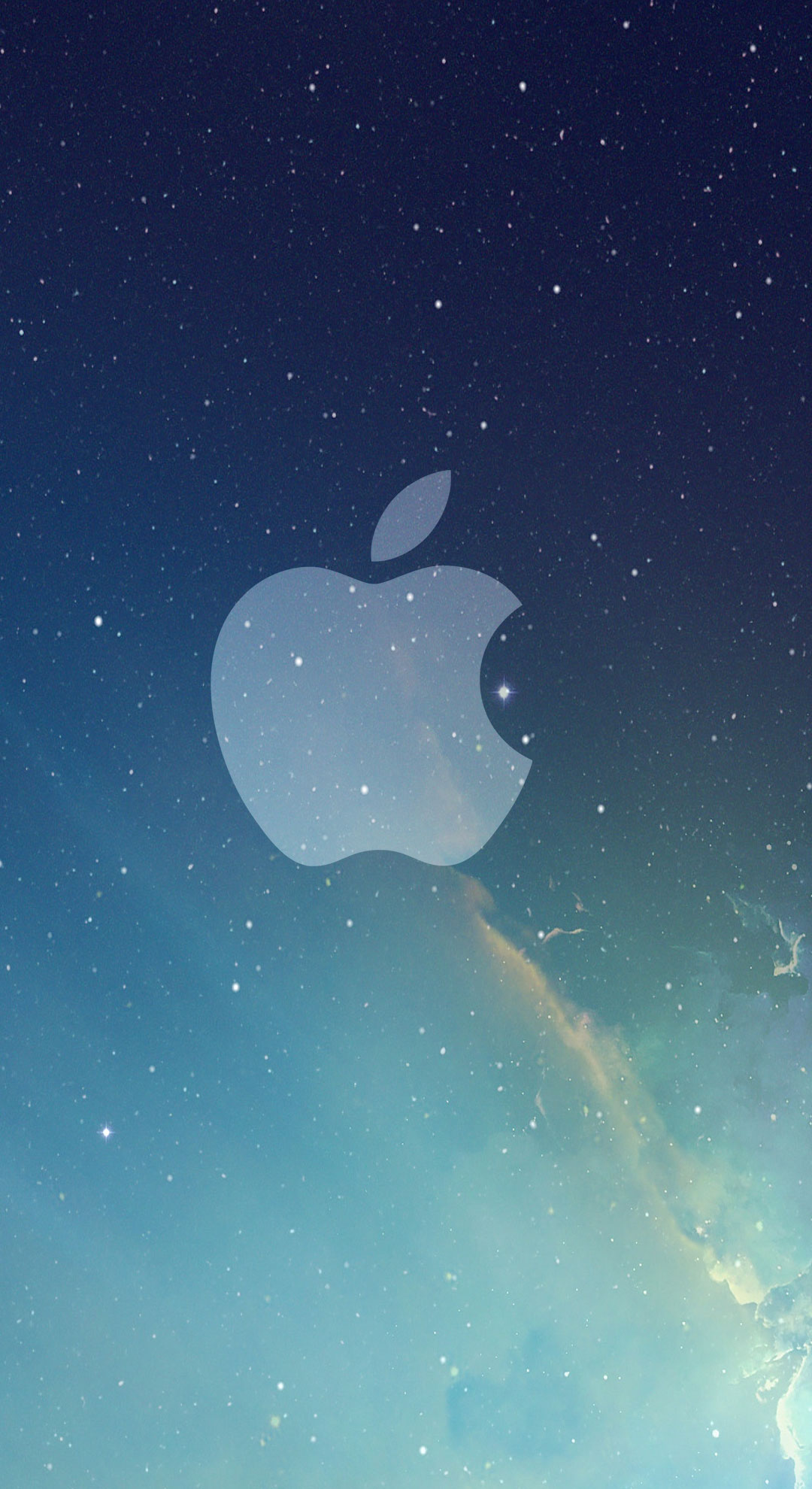 Fondo de pantalla semanal estrellas con el logo de apple for Imagenes para iphone