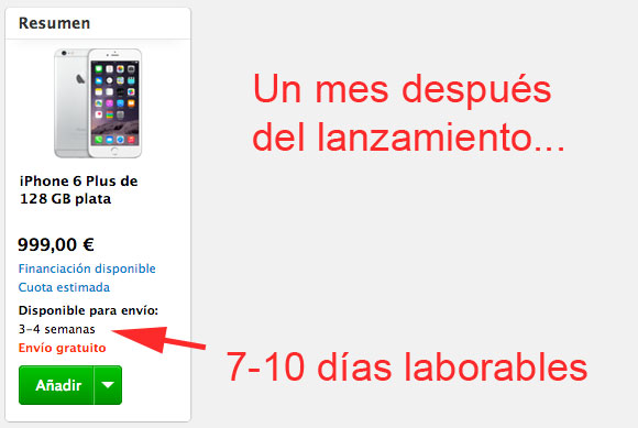 Esperando para el iPhone 6 Plus