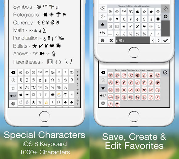Special Characters Keyboard